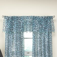 Cheetah Tailored Curtain Valance