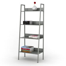 "4 Tier Angled Ladder Shelving 58.38"" Bookcase"