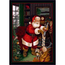 Winter Seasonal Santa's Visit Christmas Area Rug