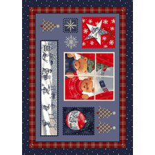 Winter Seasonal Holiday Christmas Cuddles Blue Area Rug