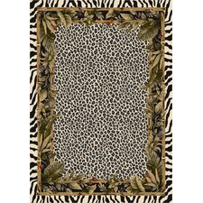 Signature Jungle Safari Snow Leopard Area Rug