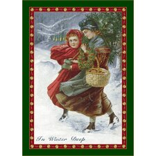Winter Seasonal Holiday in Winter Deep Area Rug