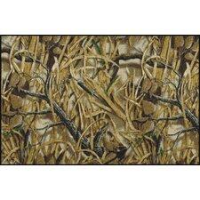 Realtree Wetlands Solid Camo Area Rug