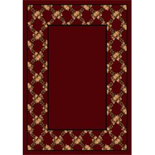 Design Center Cranberry Rose Bower Area Rug