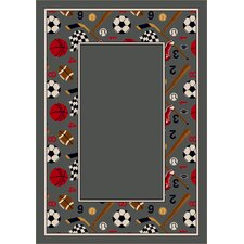 Design Center Good Sport Lapis Novelty Rug