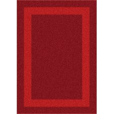 Modern Times Bailey Tapestry Red Area Rug