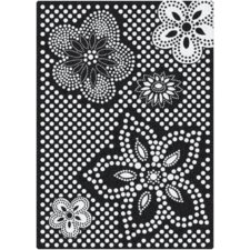Eyelet Mod Black/White Area Rug