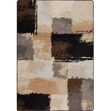 Mix and Mingle Black/Tan Fair And Square Rug