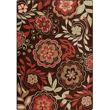 Mix and Mingle Native Red Garden Passage Rug