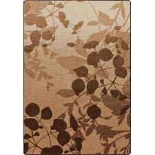 Mix and Mingle Pottery Brown Nature's Silhouette Rug