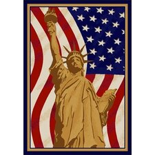 Summer Seasonal Lady Liberty America Novelty Rug