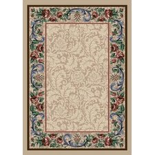 Innovation Pearl Mist Rose Damask Area Rug