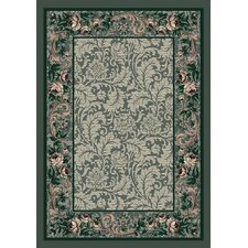 Innovation Aqua Rose Damask Area Rug