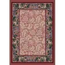 Innovation Rose Quartz Rose Damask Area Rug