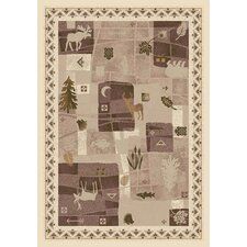 Signature Deer Trail Opal Novelty Rug