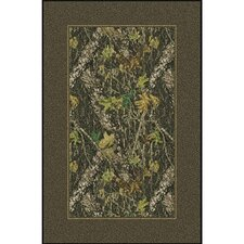 Mossy Oak Breakup Solid Border Novelty Rug