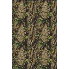 Realtree Hardwood Solid Camo Novelty Rug