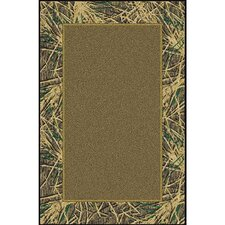 Mossy Oak Shadow Grass Solid Center Area Rug