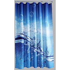 Polyester Splash Shower Curtain