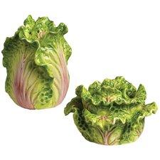 Tuscan Garden Cabbage Salt and Pepper Set