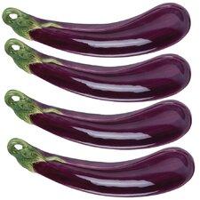 Giardino Botticelli Eggplant Serving Dish (Set of 4)