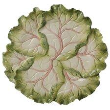 """French Garden Cabbage 13"""" Round Platter"""