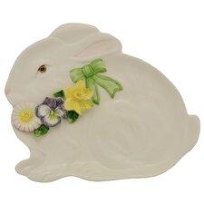 Spring Bunny Bows Serving Dish
