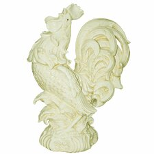 Tuscan Rooster Antique Rooster Crowing Figurine