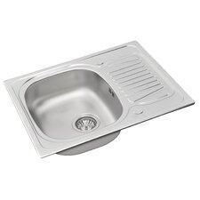 Sparta 62 x 50cm Rectangular Kitchen Sink in Chrome