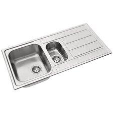 Athena 100 x 50cm Rectangular Kitchen Sink in Chrome