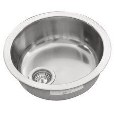 44 x 44cm Round Kitchen Sink in Chrome