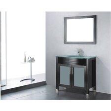 """Adora 24"""" Single Bathroom Vanity Set with Mirror"""