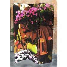 3-tlg. Raumteiler Flower