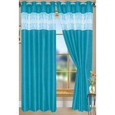Bali Faux Silk with Clip Circle Curtain Panel