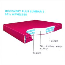 "Discovery Plus Water Lumbar 3 9"" Waterbed Mattress"