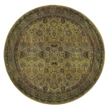 Generations Green Oriental Round Rug