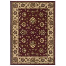"Runner: 2'3"" x 7'9"" - Ariana Ivory / Red Persian Rug"