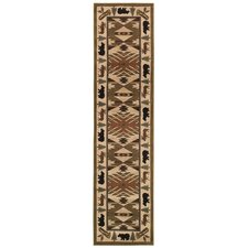 Hudson Green / Ivory Southwest Rug