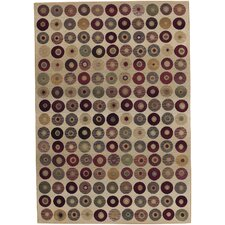 Generations Beige Abstract Area Rug