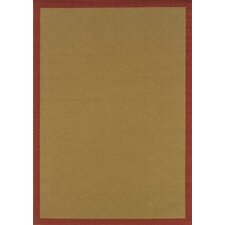 Lanai Beige/Red Border Outdoor Rug