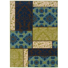 Caspian Brown/Blue/Green Indoor/Outdoor Rug