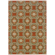 Montego Orange/Ivory Outdoor Rug