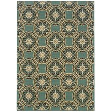 Montego Blue/Ivory Outdoor Rug