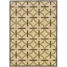 Montego Floral Ivory/Brown Outdoor Rug
