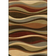 Darcy Brown/Green Abstract Rug