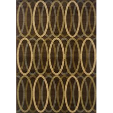 Hudson Brown/Gold Abstract Rug