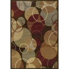 Darcy Brown/Gold Geometric Rug