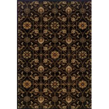 Hudson Black/Brown Floral Rug