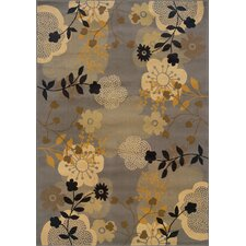 Stella Gray/Gold Over-scaled Floral Rug