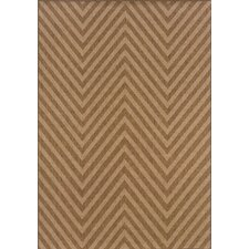 Karavia Brown Chevron Rug